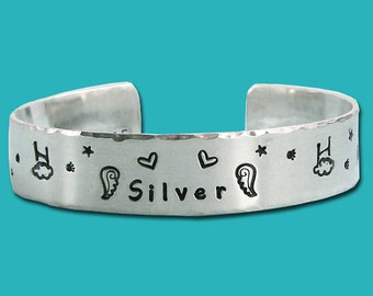 Rainbow Bridge - Agility Remembrance Bracelet - Personalized  - Sterling Silver Cuff - One Half Inch - Agility in Heaven - Memorial Bracelet