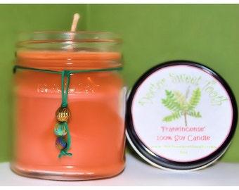Frankincense Soy Mason Jar Candle 8oz
