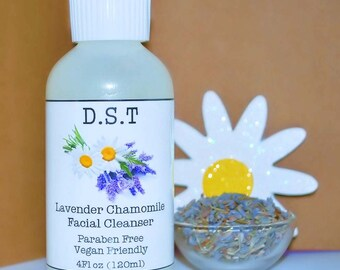 Lavender and Chamomile Facial Cleanser With Vitamin C (Vegan Friendly) (Paraben Free)