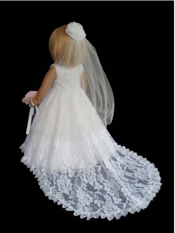 American girl doll wedding dress white lace item6 for American girl wedding dress