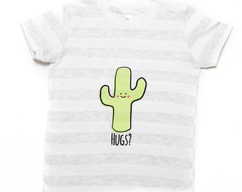 Cactus Hug Striped T-Shirt 2T to 6T CLEARANCE SALE