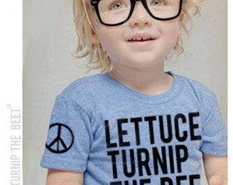 lettuce turnip the beet ® trademark brand OFFICIAL SITE - light blue heather track shirt with logo - baby and toddler sizes