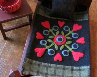 Wool Penny Rug Pattern, Doll Quilt