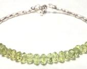 Apple Green Peridot Bracelet Karen Hill Bracelet August Birthstone Bracelet Silver Bracelet Karen Hill Silver Bracelet Gift for Her Teens