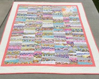 Healing quilt positive affirmations words stitched biblical precepts