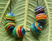 Lampwork Glass Beads by Catalina Glass SRA Yarn Balls