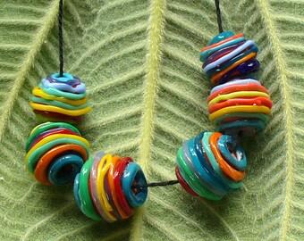 Lampwork Glass Beads by Catalina Glass SRA Yarn Balls