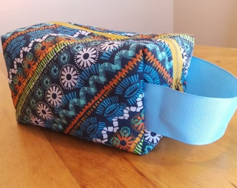 Boho makeup bag/ pencil case