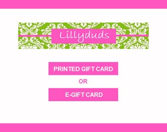 Lillyduds Gift Card ~ You Choose Amount