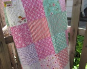 Reserved for Smith4farm  MOVING SALE! Sweet Baby Girl Quilt
