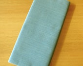 Japanese High-quality Cotton Solid Indigo Fabric (Pale Blue)