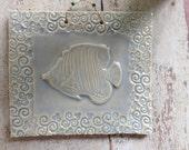 Fantastic Fish Tile in Celadon
