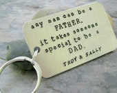 Personalized Father's Day Gift, Any Man Can Be a Father Keychain with children's names, gifts for dad, father's day keychain, father quote