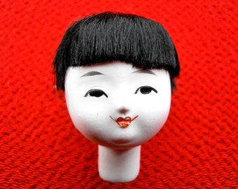 Japanese Doll Head - Vintage Doll Head -  Hina Matsuri Japanese Doll Festival Girl's Head D3-6  Small Size