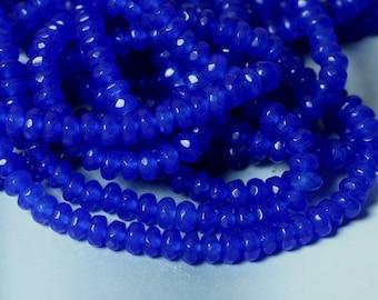 Candy jade faceted rondelle 4mm dark blue 15-inch strand (item ID CJ4mRNBB)