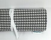 Circular Needle Case - Knitting Needle Case - Crochet Organizer - Knitting Storage - Black and White Houndstooth