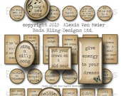 collage sheets for jewelry, Love & Encourage, words and phrases for pendants  INSTANT Digital Download at Checkout ,jewelry sampler