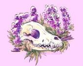 ACONITE Wolf's Skull Poster Print 11x14