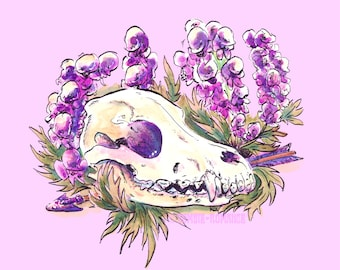 ACONITE Wolf's Skull Print