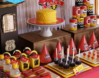 VINTAGE RACING Party Deluxe Package - Customised DIY Printables