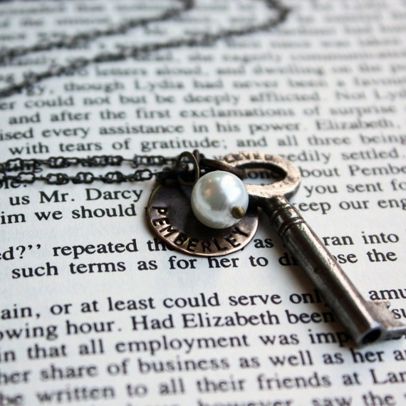 My key to Pemberley (Jane Austen inspired jewelry)