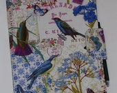 Composition Notebook/Journal (9.75 X 7.5) Fabric Cover with magnetic snap closure(pen and notebook included)
