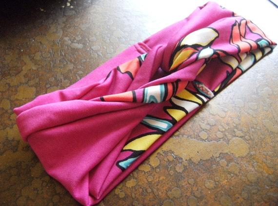 Pink Tropics Turban Headband