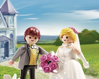 Playmobil / Bride and Groom Figures / Wedding Cake Topper