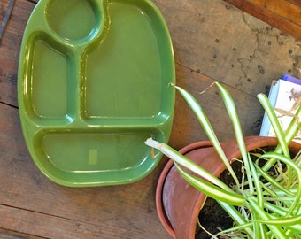 Set of Four Ivy Green Lunch Trays