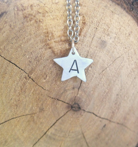 You are a Star Initial Necklace-Monogram-Vegan-Gift-Birthday-Anniversary-Wedding-Personalized-Vegan Jewelry-Eco Friendly