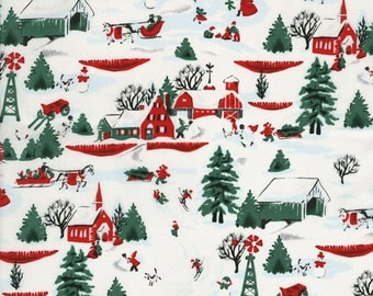 White Christmas Village  - By Patrick Lose - For RJR - 1 Yard - 8.50 Dollars