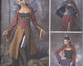Simplicity 1138 Misses Dark Fairies Costumes Sewing Pattern Sizes 6-12 New UNCUT