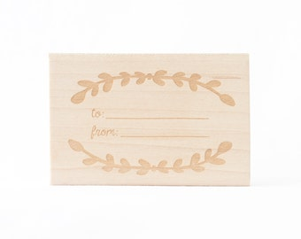 To/From Rubber Stamp Gift Tags and Wrap