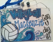 Private listing - volleyball purple lettering