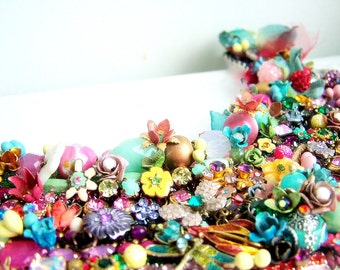 Garden of Splendor -  OOAK Neckpiece - Ready to ship xx