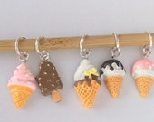 Ice-cream - snag-less stitchmarkers