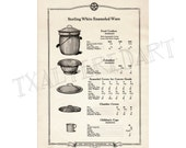 Kitchenware Vintage Art Deco 1920s Central Stamping Co catalogue print cookware household utensils paper ephemera kitchen wall decor no. 2