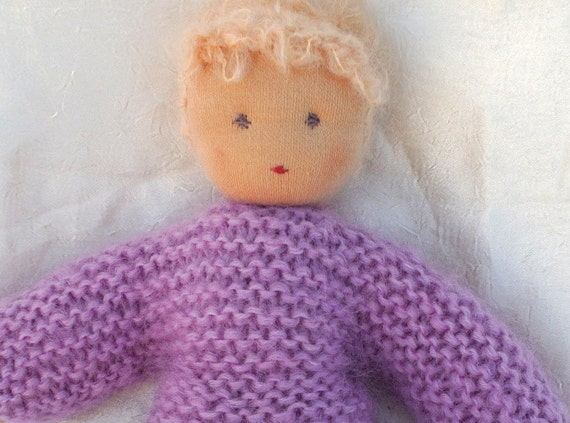 Waldorf doll handmade of natural eco materials 13inch-one of a kind