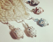 5 Stitch Markers - Study Group Owls