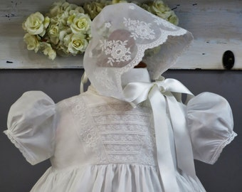 Handmade Christening Gown, Baptism Dress, Blessing Gown, New with Vintage Heirloom Styling - 2Blessing