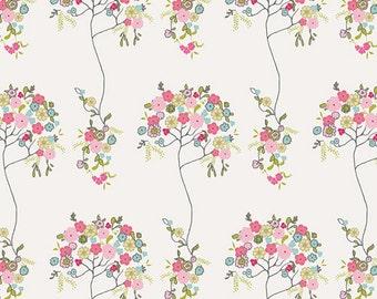 Chérie from Art Gallary Fabrics, Tree Fleur Blanc, LAST 43 Inches