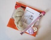 Pygora Knit Lace Scarf Kit - Ladders & Lace - 100% Natural Pygora yarn