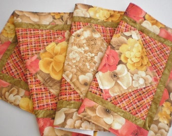 Table Runner Linens Handcrafted Table Topper Home Decor Quilted Accent Floral Design Mother's Day Wedding Gift