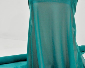 """Power mesh stretch fabric, semi sheer, 4 ways stretch.. Jade Green  . 58 """" wide.. dance, pageant, formal, costume,"""