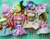 Petite Blythe Doll Dresses....Custom Order...Handmade and Ooak