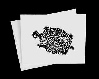 Turtle Notecard Blank Inside