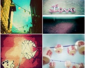Urban Photography Print Set - Love Photo, Street Art, Laneway Photograph, Bear Print, Modern Home Decor