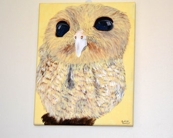 Starry Eyed Owl Painting