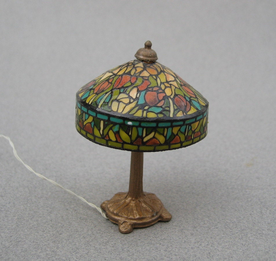 Kummerows Dollhouse Lamp Faux Stained Glass Lamp by UncommonEye