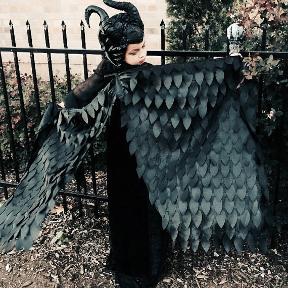 Maleficent Costume, Maleficent, Maleficent Wings, Halloween Costume, Wings, Costume Wings, Dress Up Wings, Feather Wings, Crow Wings, Raven